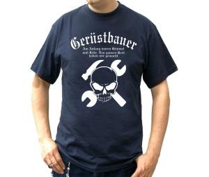 T-Shirt Gerüstbauer Am Anfang waren Himmel und Erde