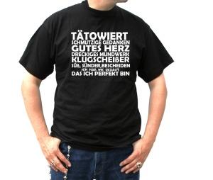 T-Shirt Tätowiert Schmutzige Gedanken gutes Herz