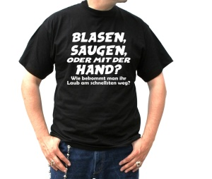 T-Shirt Blasen Saugen oder mit der Hand