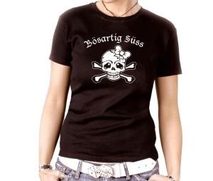Damen Shirt Bösartig Süss