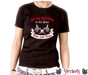 Damen Shirt Blut und Tinte