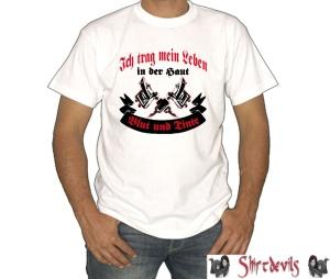 T-Shirt Blut und Tinte
