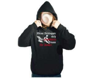 Kapusweatshirt Wenn Bekloppte sich schminken