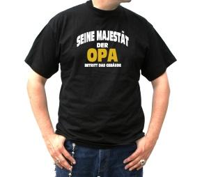 T-Shirt Seine Majestät der Opa