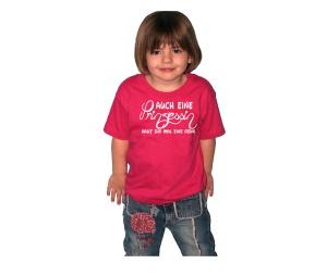 Kinder Shirt Auch eine Prinzessin haut dir