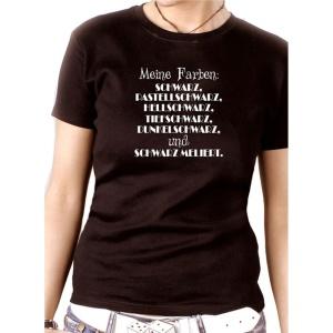 Damen Shirt Meine Farben schwarz pastellschwarz