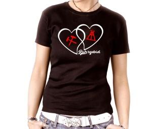 Damen Shirt Ruhrgebiet Herzen