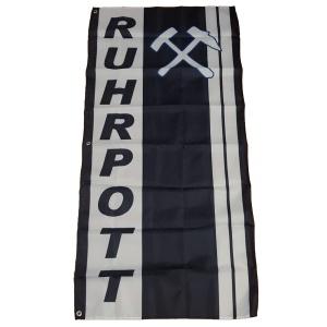 Fahne Ruhrpott Hammer und Schlegel