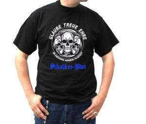 T-Shirt Glaube Treue Ehre in meinen Adern fliesst Schalker Blut