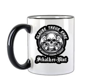 Tasse Glaube Treue Ehre in meinen Adern fliesst Schalker Blut