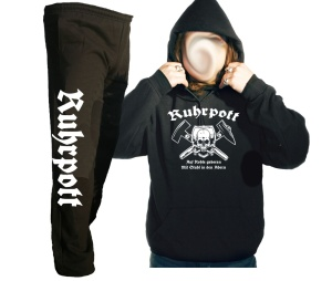 Kombi Kapusweatshirt - Jogginghose Ruhrpott Auf Kohle geboren