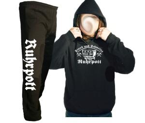 Kombi Kapusweatshirt - Jogginghose Ruhrpott Staub und Schweiss