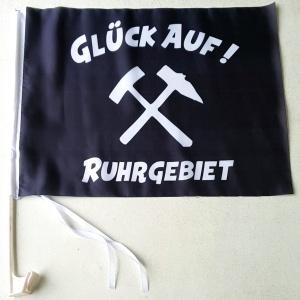 Autofahnen Seitenfenster Glück Auf Ruhrgebiet