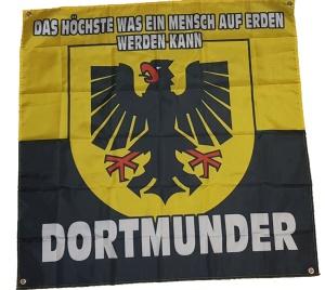 Fahne Dortmunder Das Höchste was ein Mensch auf Erden werden kann