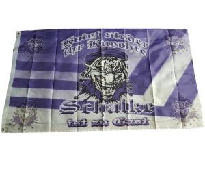 Fahne Kniet nieder Ihr Knechte Schalke ist zu Gast