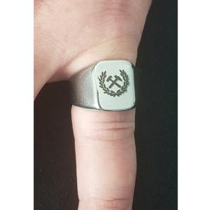 Siegelring Ruhrpott Symbol Hammer und Schlegel