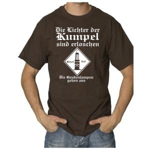 T-Shirt Die Lichter der Kumpel sind erloschen