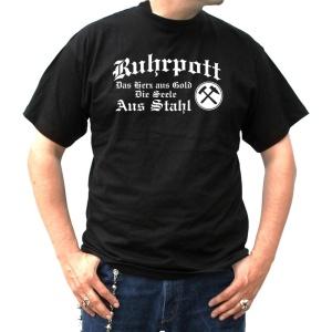T-Shirt Das Herz aus Gold die Seele aus Stahl