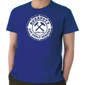 T-Shirt Auf Kohle geboren Glück Auf