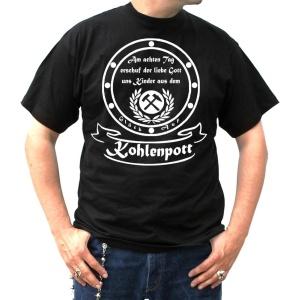 T-Shirt Am 8ten Tag erschuff der liebe Gott uns Kinder aus dem Kohlenpott