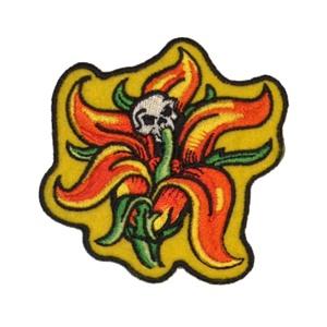 Aufnäher Skull Flower