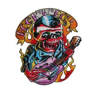 Aufnäher Rockabilly Sklett Guitar