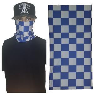 Bandana Multifunktionstuch Checker blau weiss
