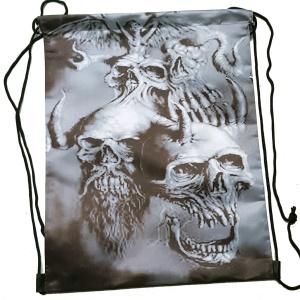 Rucksack Stringbag Schädel Skull
