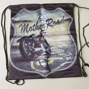 Rucksack Stringbag Biker Route 66 Mother Road