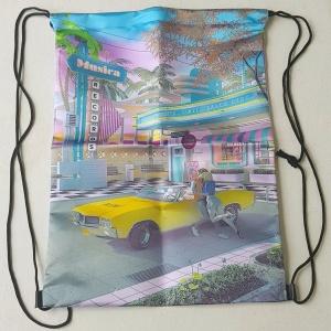 Rucksack Stringbag Rockabilly 50er Jahre Drive in
