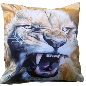 Kissenhülle Löwe