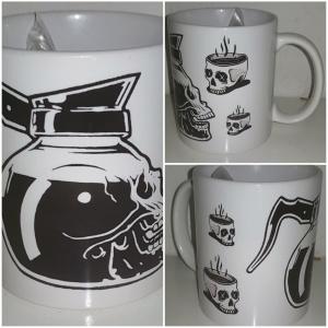 Tasse Totenkopf Kaffee