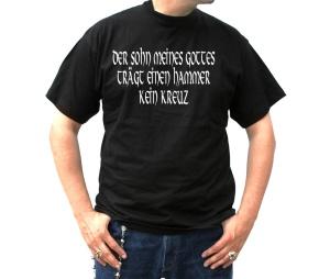 T-Shirt Der Sohn meines Gottes trägt einen Hammer