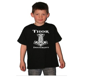 Kinder Shirt Thor Donnergott