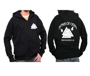 Sweatjacke mit Kapuze Sons of Odin Walhalla