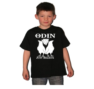 Kinder Shirt Odin Just believe