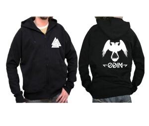 Sweatjacke mit Kapuze Odin